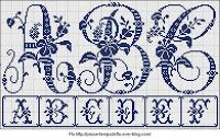 Free Easy Cross, Pattern Maker, PCStitch Charts + Free Historic Old Pattern Books: Sajou No 604 Embroidery Alphabet, Embroidery Monogram, Embroidery Art, Cross Stitch Embroidery, Cross Stitch Letters, Cross Stitch Boards, Cross Stitch Freebies, Pattern Books, Cross Stitching
