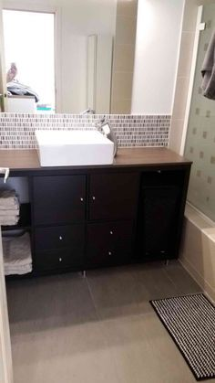 Voila! KALLAX bathroom vanity for small bathroom