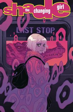 Becky Cloonan (@beckycloonan) - My cover to Shade the Changing Girl issue 8!