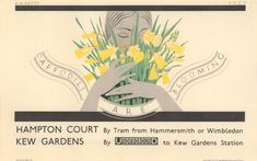 Poster; Daffodils are blooming, by Dora M Batty, 1927