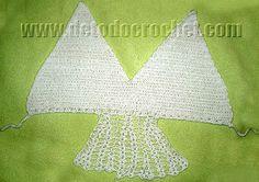 Corpiño crochet con inicio de la falda