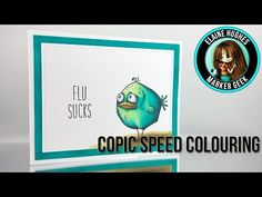 A Little Tim Holtz Birdie Said: Flu Sucks! (Copic speed colouring video) | Marker Geek