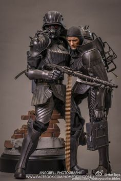 Final product pictures of the Hot Toys Artist Collection Kerberos Panzer Jager scale figure Fantasy Armor, Sci Fi Fantasy, Armor Concept, Concept Art, Character Concept, Character Art, Armadura Medieval, Future Soldier, Ex Machina