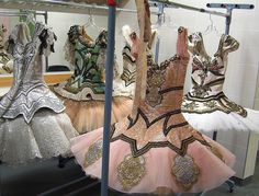 Ballet costumes - inside the performers'  changing rooms at the new Four Seasons Centre For The Performing Arts in Toronto