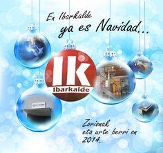 """""""En Ibarkalde ya es navidad..."""" Felicitación de navidad del año 2014. Un fotomontaje con bolas de navidad y varios de nuestros proyectos. #navidad #felicitación"""