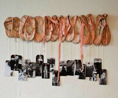 I wish I had saved all of L's ballet slippers (since she was 3). This is wonderful!