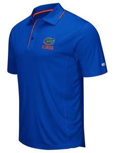 Shop Florida Gators Colosseum Blue Polyester Performance Short Sleeve Golf Polo Shirt