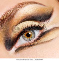 cat eyes makeup hazel eyes Cool Eye Make up Ideas for Hazel Eyes Owl Makeup, Lion Makeup, Cute Eye Makeup, Hazel Eye Makeup, Animal Makeup, Gold Eye Makeup, Simple Eye Makeup, Eye Makeup Tips, Hazel Eyes