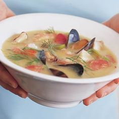 Recept - Romige vissoep met mosselen en garnalen - Allerhande
