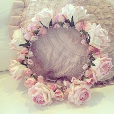 RESERVED for DEBBIE - Beautiful Antique Bridal Millinery Floral Crown Veil with…