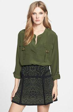 Diane von Furstenberg 'Danielle' Silk Blouse available at #Nordstrom
