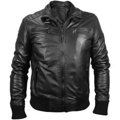 Forzieri Men's Black Leather Motorcycle Jacket (£775) ❤ liked on Polyvore featuring men's fashion, men's clothing, men's outerwear, men's jackets, coats, men, jackets, mens leather motorcycle jacket, mens biker jacket and mens motorcycle jacket