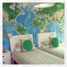 Choose a cool fabric and make some single bed thrown covers - top with some cool cushions.
