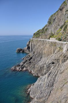 One of the hiking paths in the Cinque Terre