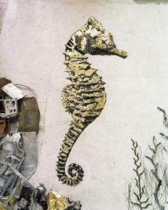 Sculptures of animals made from gold metal scraps by Vik Muniz #Art
