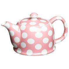 Pink and white polka dots #teapot