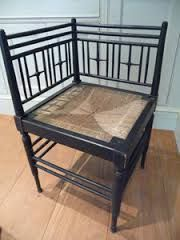 ARTS & CRAFTS ebonised Sussex chair for corner William Morris & Co