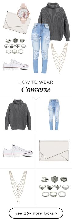 """Untitled #30"" by ashleigh-oxley on Polyvore featuring Converse, Ettika, Kendall + Kylie, Olivia Burton, casual, simple and jewlery"
