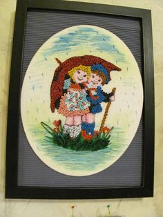 Couple in the Rain quilling - by: Matei Ana-Ortanza
