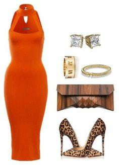 love orange on a good summer tan