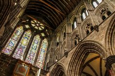 The beautiful inside of the St Mungo's Cathedral of Glasgow, Scotland Scotland Kilt, Glasgow Scotland, Visit Glasgow, Glasgow Cathedral, Running Away From Home, Old Trees, Prim Christmas, Container Flowers, Scandinavian Christmas