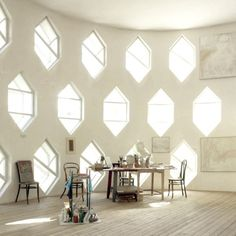 Room in the Melnikov House, Cleveland. Wow. What a beautiful space to work in...