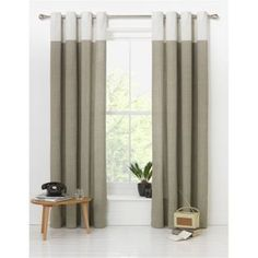 Buy Argos Home Dublin Unlined Eyelet Curtains - Stone Argos, Home Living Room, Dublin, Home Furnishings, Home Accessories, Home And Garden, Lounge, Stone, Bedroom