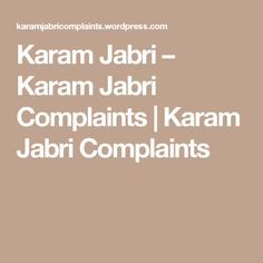 Karam Jabri – Karam Jabri Complaints | Karam Jabri Complaints Online Marketing, Blog, Blogging