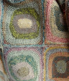 Detail from the new '3811' Hand Crocheted Scarf by Sophie Digard #SophieDigard