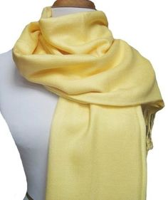 Soft and Silky Beautiful Viscose Pashmina Light Yellow Shawl/ Wrap 28 X 78 by Peach Couture. $9.95. Peach Couture luxurious artificial Pashmina at affordable price. These are the finest and best quality shawls available in the market today. Its drape and sheer vibrancy of colors have only added to its reputation as a Highest quality Fashion wrap available. Peach Couture Art. Pashmina, is made of viscose and it is soft to feel and very comfortable on the skin. Best de...