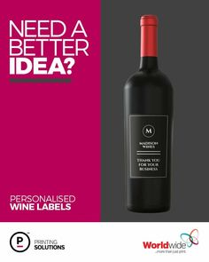 Personalized Wine Labels, Thank You Labels, Wine Brands, Treat Yourself, Corporate Gifts, Printing Services, Giveaways, Wines, Red Wine