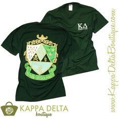 Kappa Delta Boutique is now designing and creating custom group orders for your chapter! We can do any shirt color, style and design. We offer free shipping on group orders! To start designing, contact kdboutique.custom@kappadelta.org