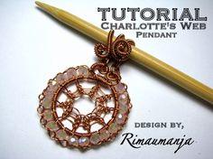 Wire Art-Charlotte's web pendant tutorial