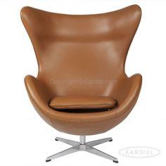 Egg Chair, Caramel Premium Leather |