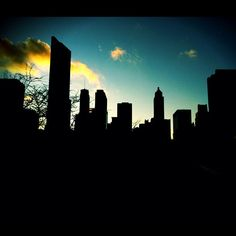 silhouette, Skyline Silhouette, Art Camp, Photography Photos, Silhouettes, Buildings, Chicago, My Love, Board, Places