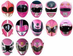 Pink Ranger Helmets - MMRP onwards Power Rangers Helmet, Power Rangers Series, Pink Power Rangers, Power Rangers Samurai, Power Rangers Ninja Steel, Rangers Team, Mighty Morphin Power Rangers, Kamen Rider, Pink Helmet