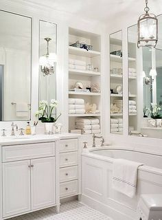 favorite places and spaces Never enough white bathrooms
