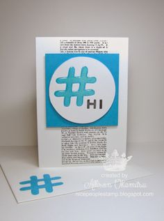 nice people STAMP!: Undefined - Hand Carved #hashtag Stamp by Allison Okamitsu.  Stampin' Up!