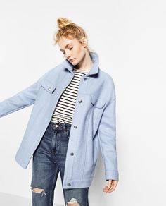 STRIPED CLOTH OVERSHIRT-Coats-OUTERWEAR-TRF | ZARA United States
