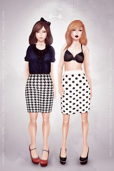 Pencil skirts by Maylee Oh. #secondlife #fashion