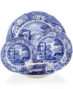 Shop Spode Blue Italian 5-Piece Place Setting online at Macys.com. First introduced in 1816, Spode's Blue Italian place settings collection has graced countless tabletops with its quaint country scene and traditional Imari Oriental border in blue and white china.