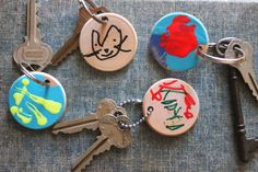 scrumdilly-do!: father's day diy: wooden key chain/gift tag