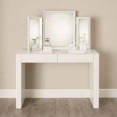Carlton Glass Dressing Table   White Furniture | The White Company