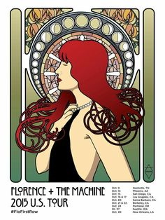 Florence + the Machine US tour poster