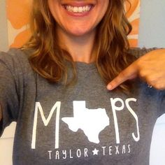 This is cute! Another pinner says this: Shirt idea--star instead of state!