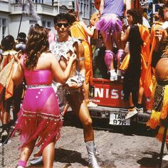 Trinidadian Style.....partying in the streets CARNIVALE 1990 Photo @doug_ordway #dougordway #trinidad #carnivale