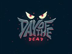 400 300 1836025442 day of the dead Typography Logo, Graphic Design Typography, Lettering, Halloween Logo, Game Logo Design, Design Design, Fantasy Logo, Retro Logos, Vintage Logos