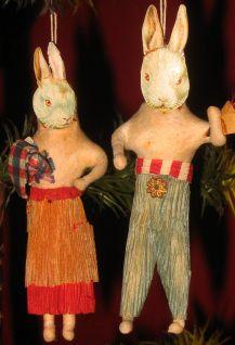 Cotton Batting Rabbit couple