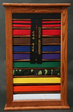 Martial Arts Belt Display | Martial arts belt display help - Woodworking Talk - Woodworkers Forum