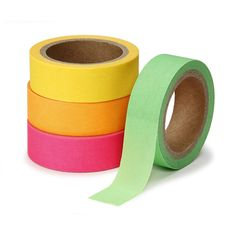 Washi Tape 4 Pack: Neon Colors